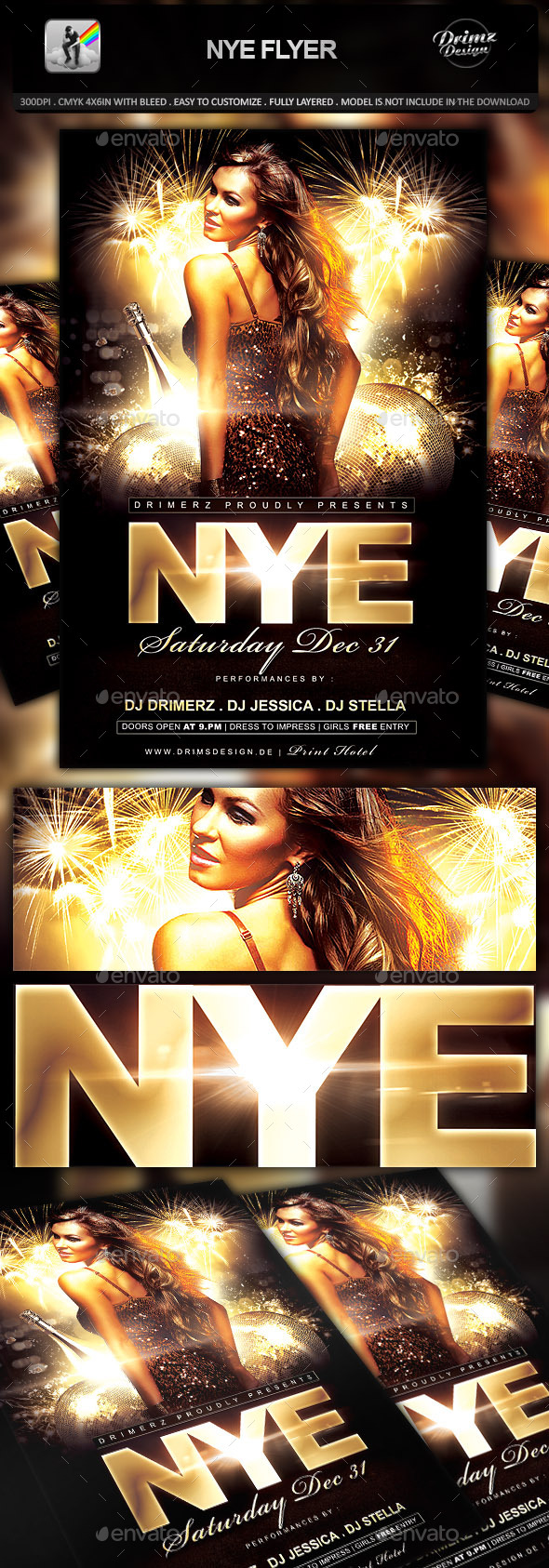 NYE Flyer - Holidays Events