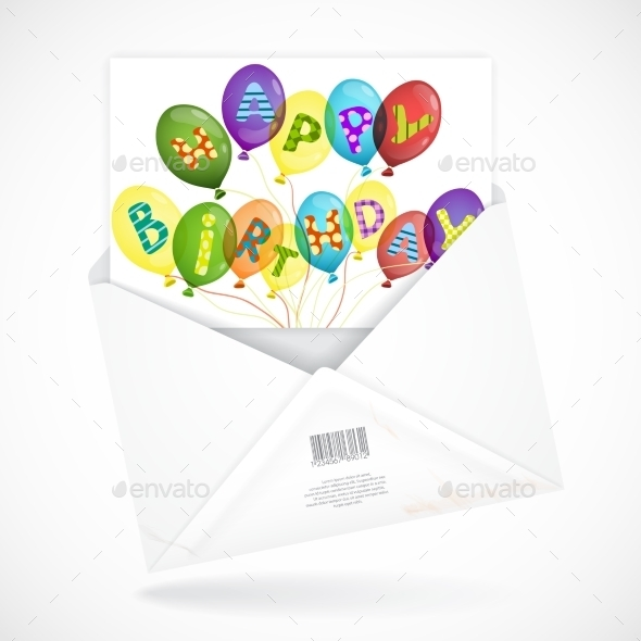 Postal Envelopes With Greeting Card - Birthdays Seasons/Holidays