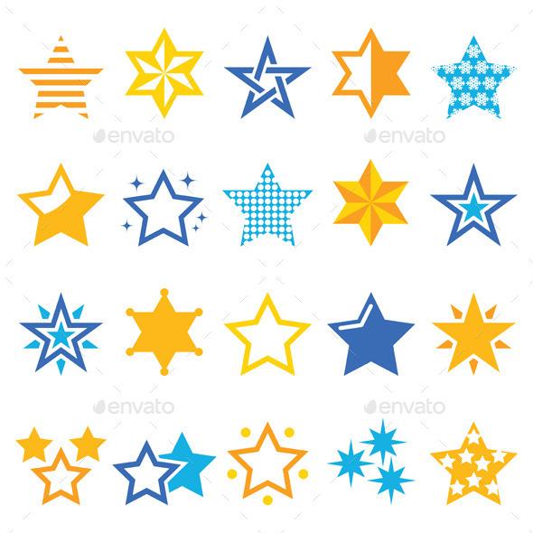 Stars Set - Christmas Seasons/Holidays