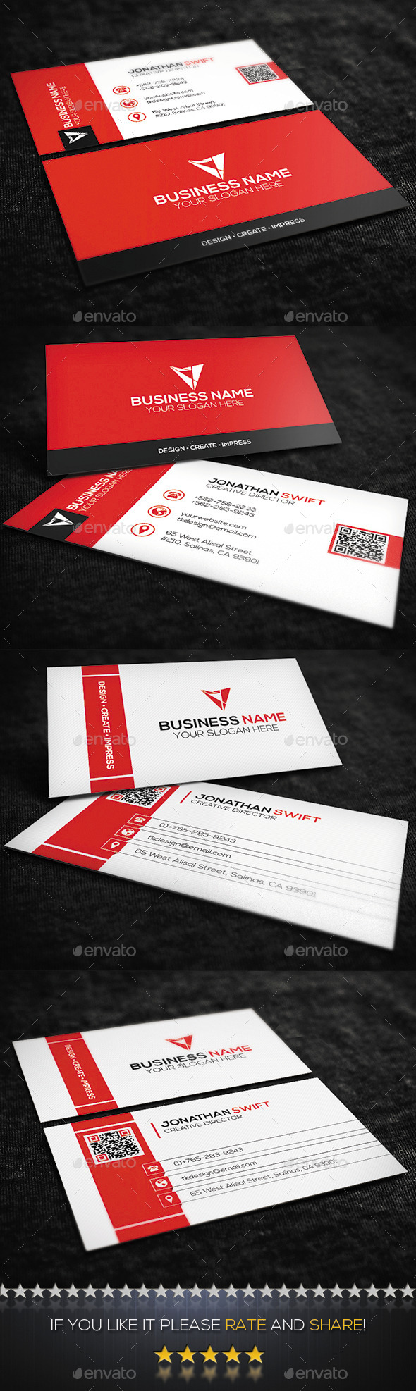 2 in 1 Corporate Business Card Bundle No.02 - Corporate Business Cards