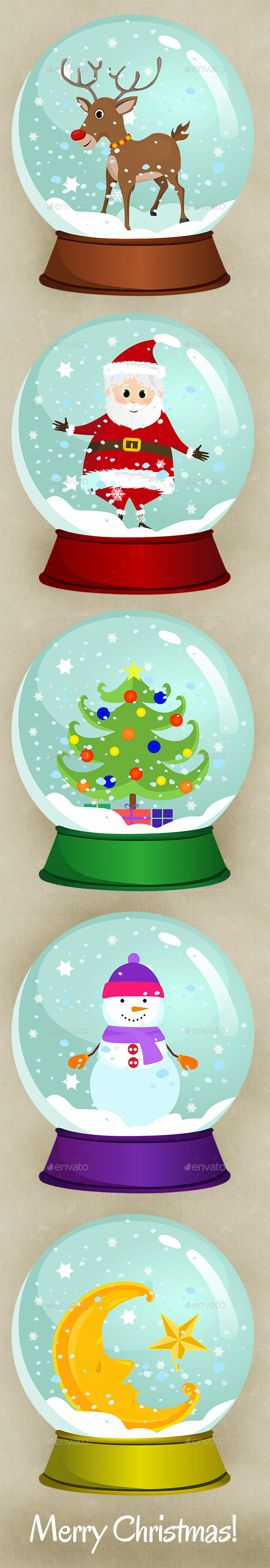 Christmas Snow Globes  - Christmas Seasons/Holidays