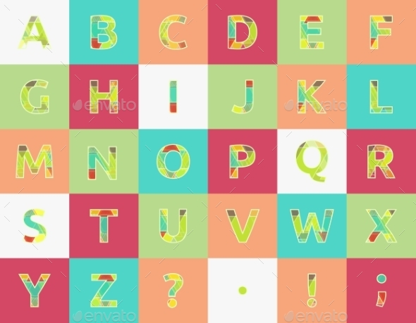 Spectral Alphabet - Decorative Vectors