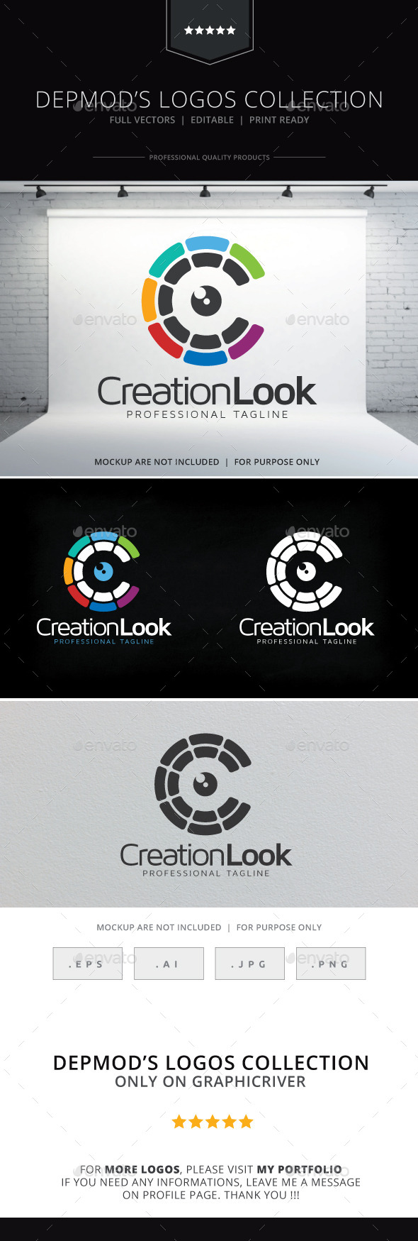 Creation Look Logo - Letters Logo Templates