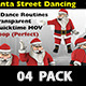 Santa Christmas Street Dancing Routines 4 Pack - VideoHive Item for Sale