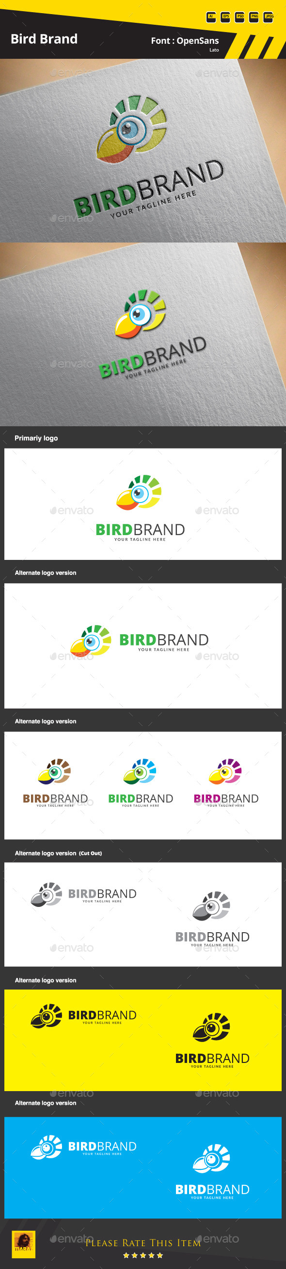 Bird Brand Logo Template - Animals Logo Templates