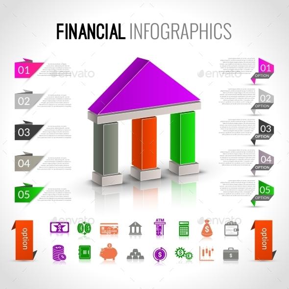 Bank Financial Infographics - Infographics