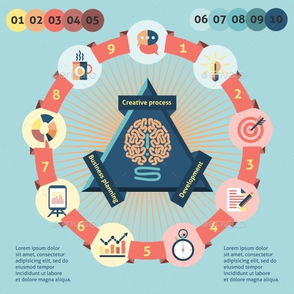 Idea Infographics Set - Infographics