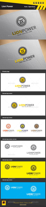 Lion Power Logo Template - Animals Logo Templates