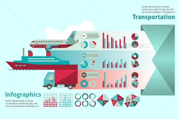 Transport Infographic Set - Infographics