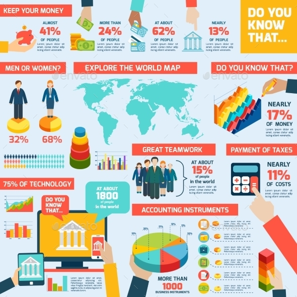Accounting Infographics Set - Infographics