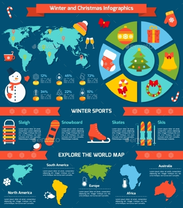Winter and Christmas Infographic - Infographics