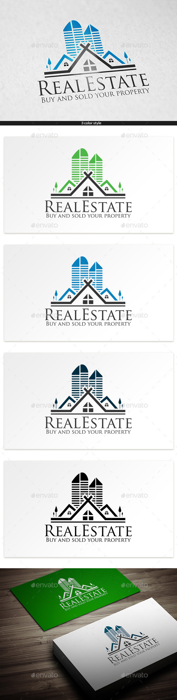 Pyramid Real Estate - Buildings Logo Templates
