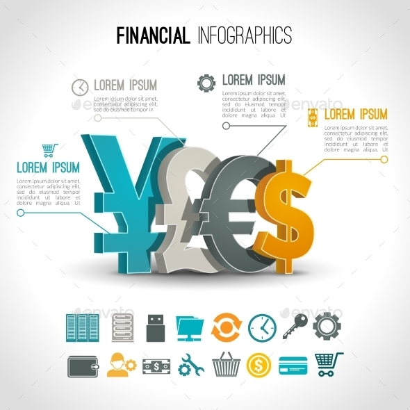 Financial Infographic Set - Infographics