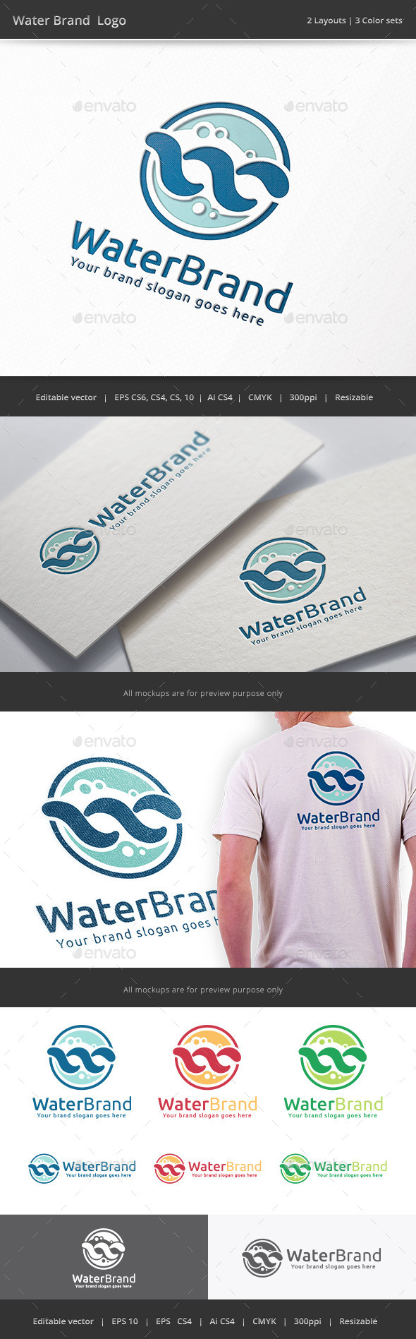 Water Brand Logo - Vector Abstract