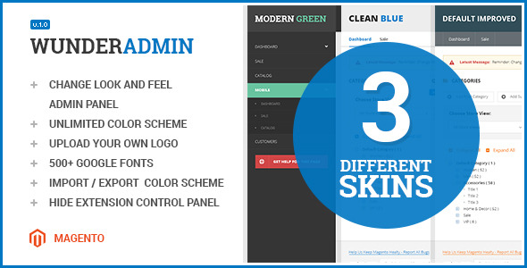 Wunderadmin - magento admin theme - CodeCanyon Item for Sale