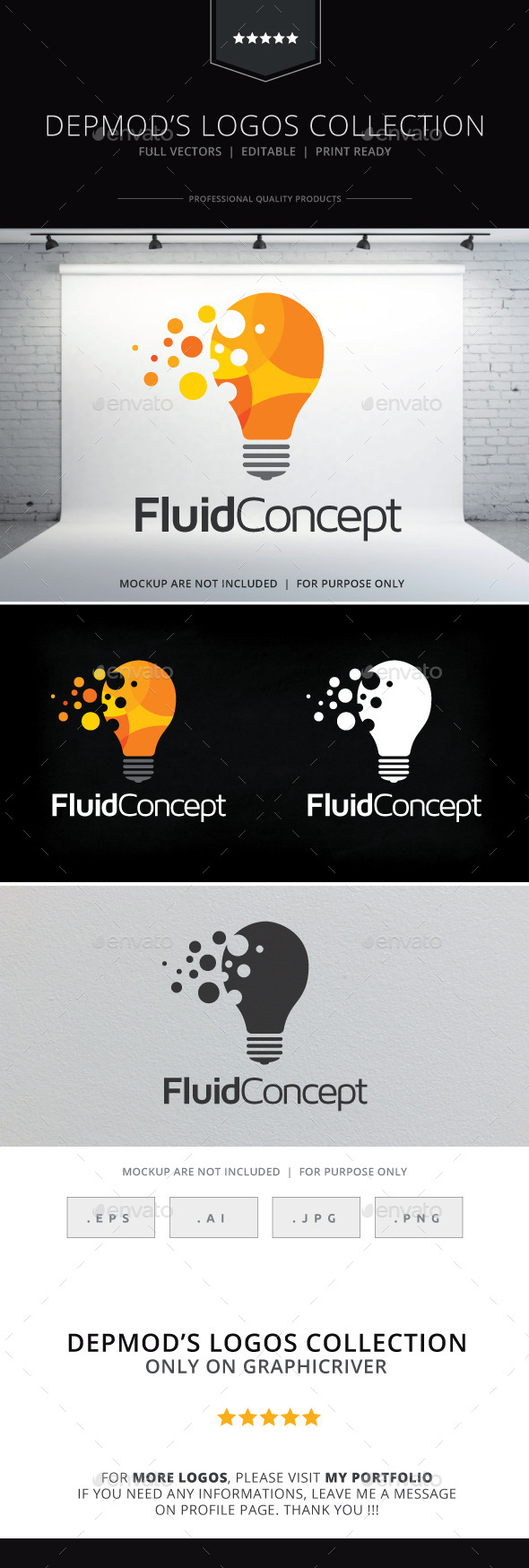 Fluid Concept Logo - Objects Logo Templates