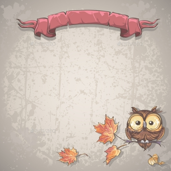 Banner with Owl Background - Seasons Nature