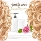 Blond Curled Hair Care Background - GraphicRiver Item for Sale