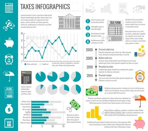 Tax Infographics Set - Infographics