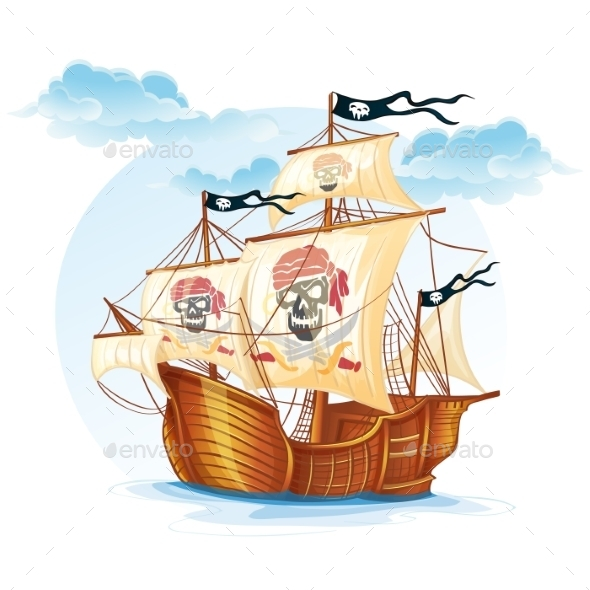 Pirate Ship - Travel Conceptual