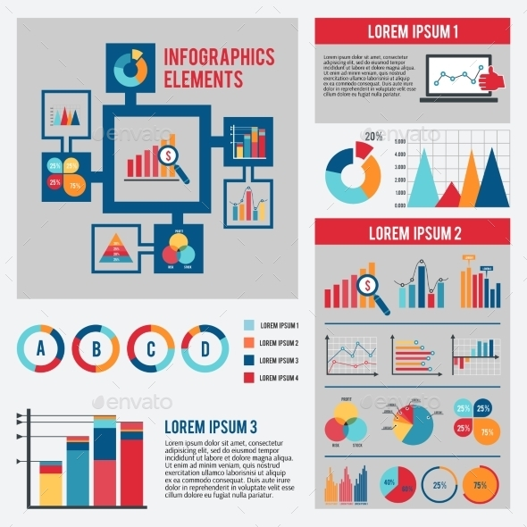 Business Chart Infographics Set - Infographics
