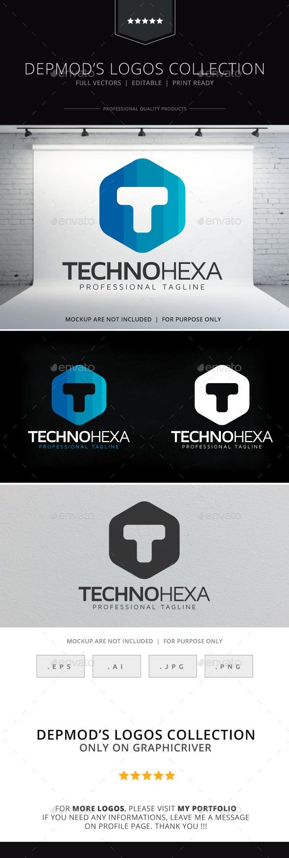 Techno Hexa Logo - Letters Logo Templates