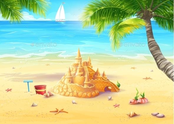 Beach Illustration - Travel Conceptual