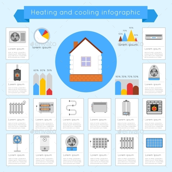 Heating and Cooling Infographics - Infographics