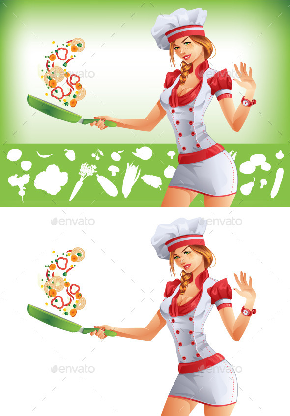 Woman Cooking  - People Characters