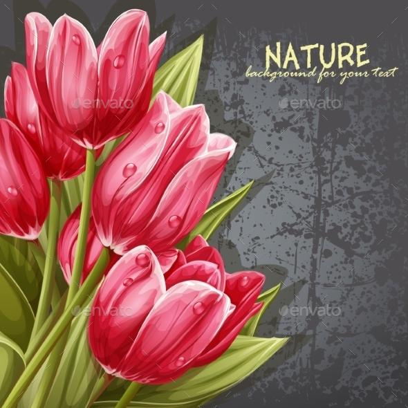 Tulip Background - Flowers & Plants Nature