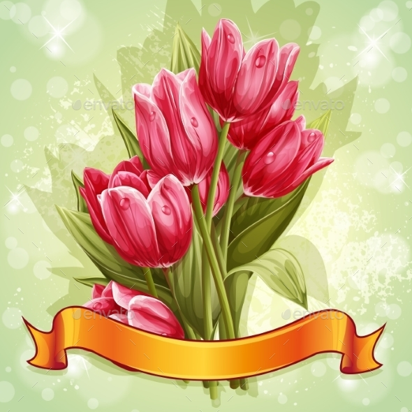 Tulip Background - Flowers & Plants Nature
