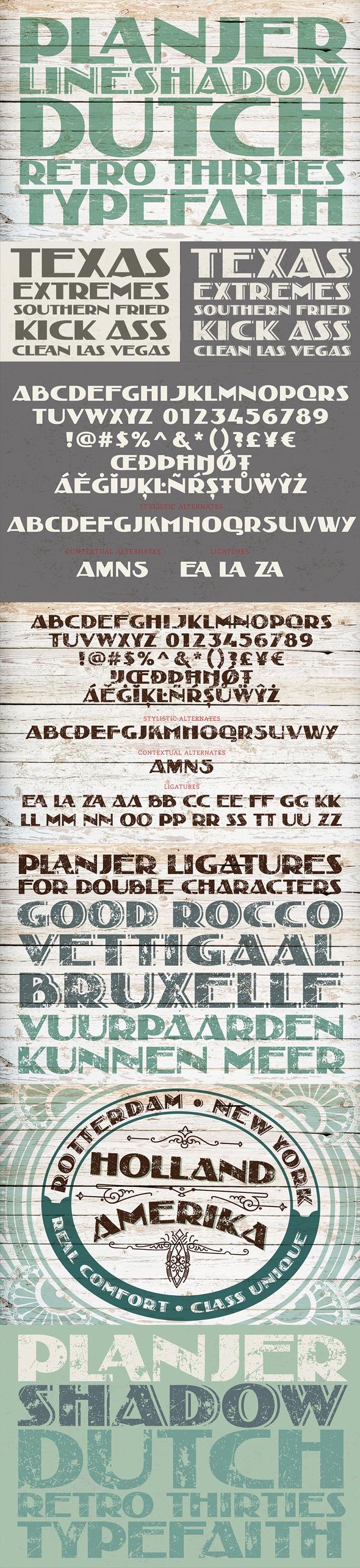 Planjer - Decorative Fonts