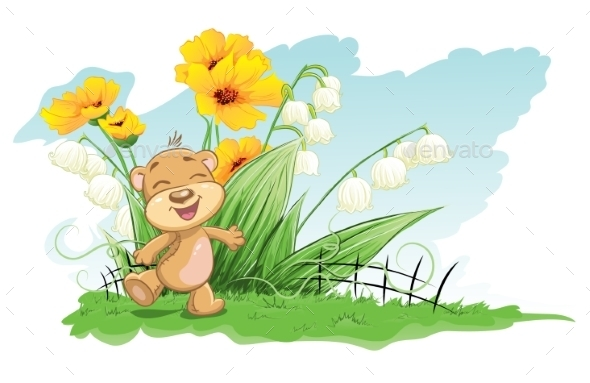 Bear with Background - Flowers & Plants Nature