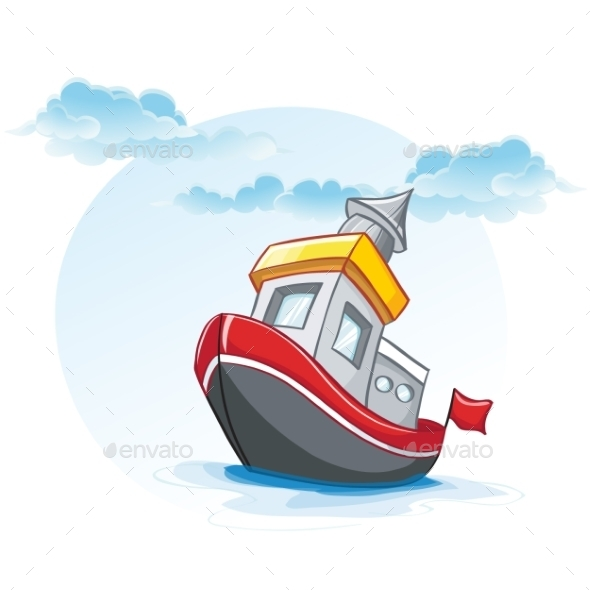 Ship Cartoon - Travel Conceptual