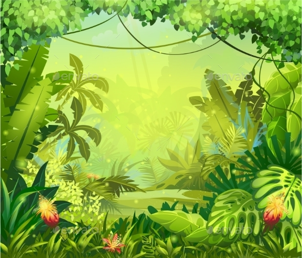 Jungle by nearbirds graphicriver jungle toneelgroepblik Gallery