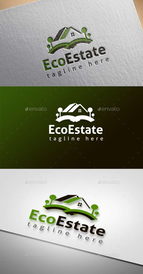 Eco Estate - Buildings Logo Templates