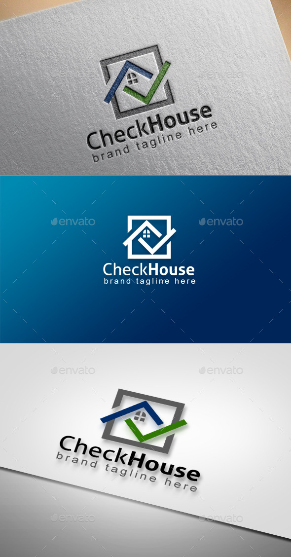 Check House - Buildings Logo Templates