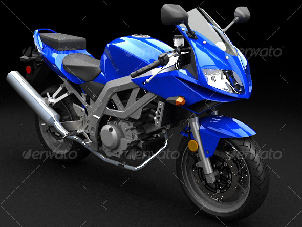 Suzuki SV650s - 3DOcean Item for Sale