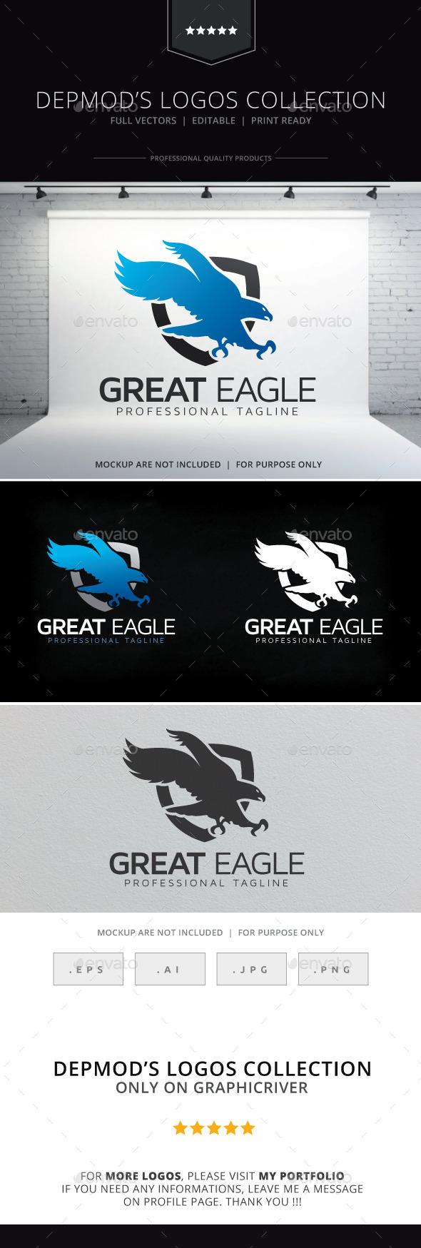 Great Eagle Logo - Animals Logo Templates