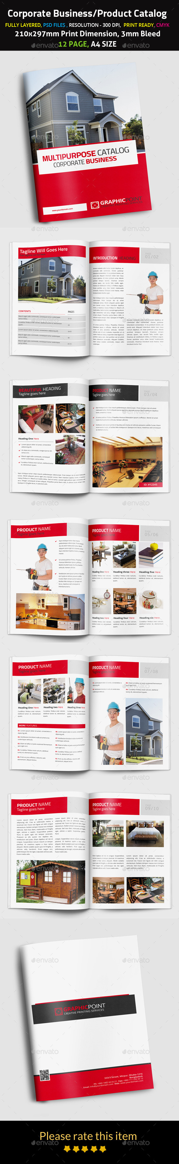 Corporate Business/Product Catalog - Brochures Print Templates