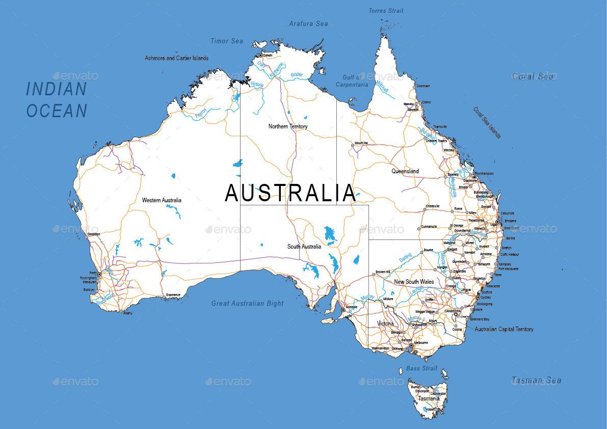 Australia Map Detailed.Detailed Map Of Australia