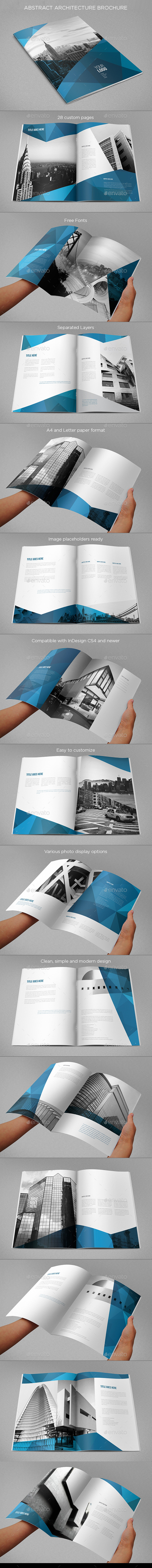 Abstract Architecture Vertical Brochure - Brochures Print Templates