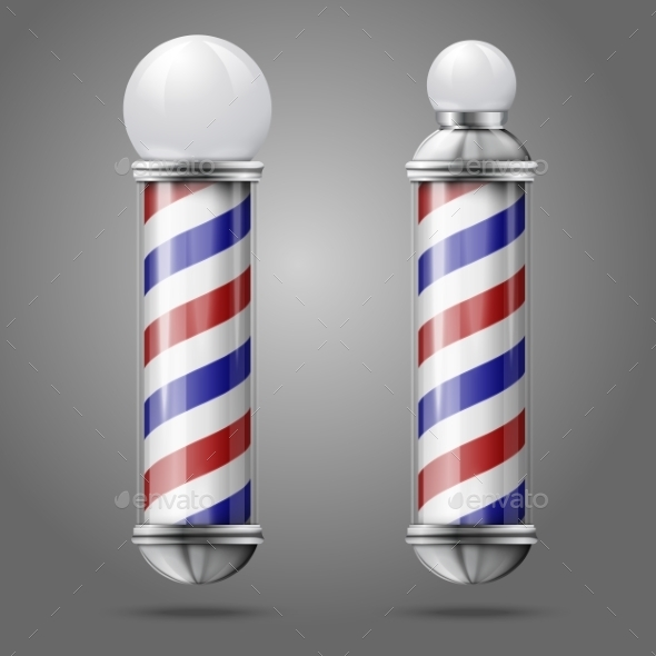 Vintage Barber Shop Poles - Man-made Objects Objects