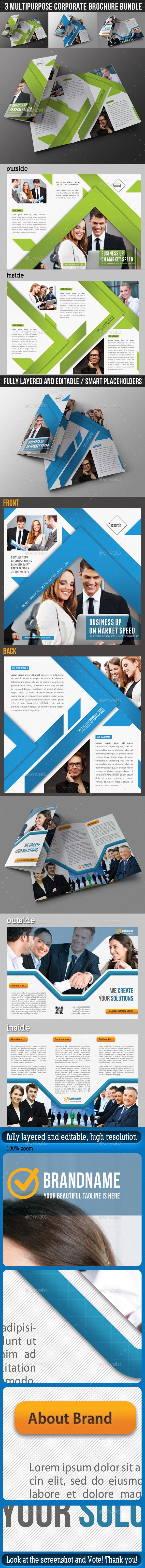 3 in 1 Corporate Brochure Bundle 03 - Corporate Brochures