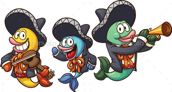 Mariachi Fish - Animals Characters