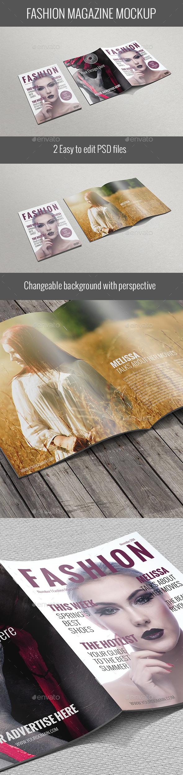 Fashion Magazine Mockup - Magazines Print