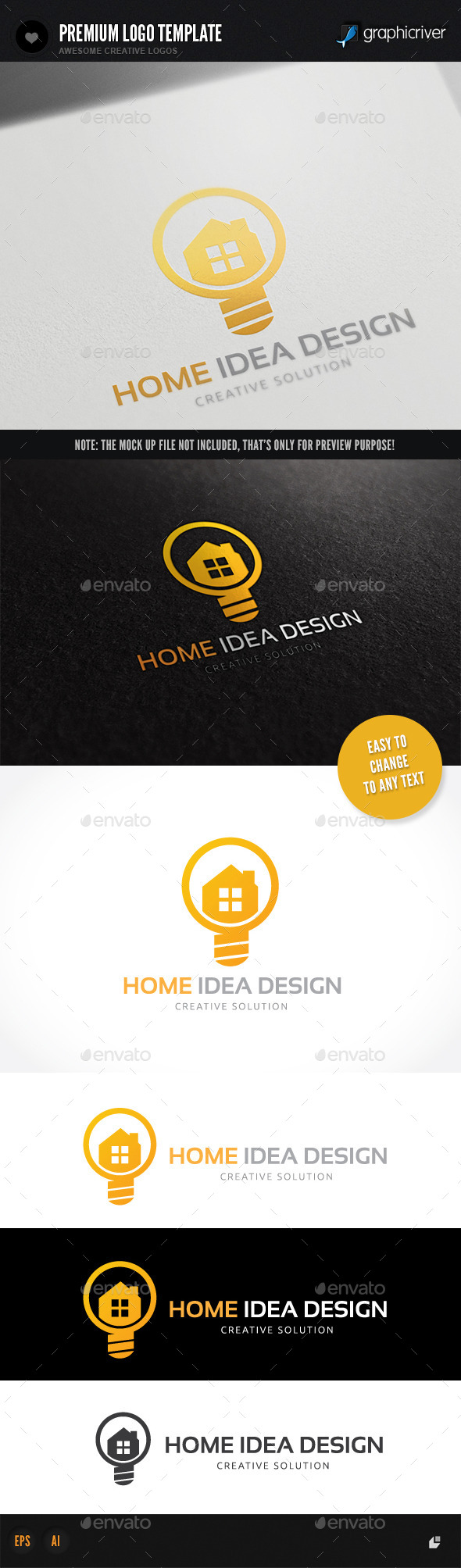 Home Idea Design - Buildings Logo Templates