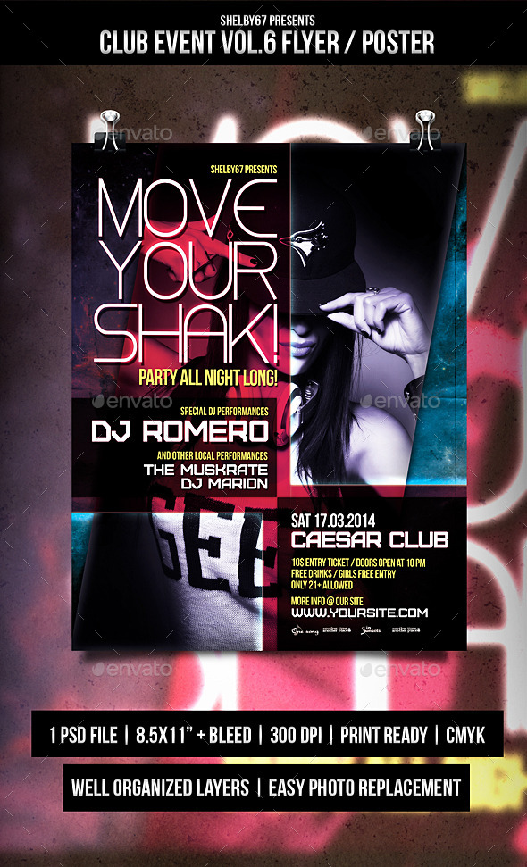 Club Event Flyer / Poster Vol.6 - Events Flyers