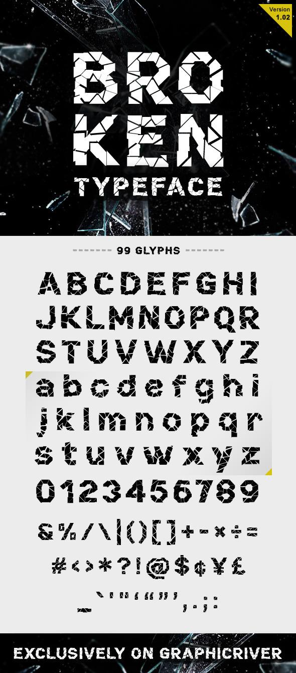 Broken Font - Decorative Fonts