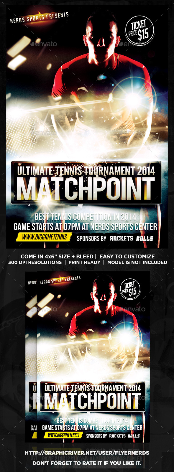 MatchPoint Tennis Sports Flyer - Sports Events